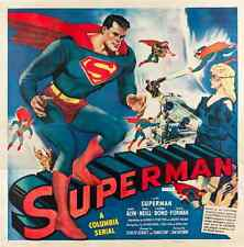 "Superman Movie Poster Replica 12x12"" Photo Print"