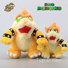 2X Super Mario Bros. Plush Bowser King Koopa Toy Soft Stuffed Doll Teddy 7'' 10'