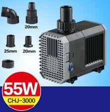 Chj-3000 Pompa ricircolo risalita Sommersa 55w 3000l/h Acquario Laghetto Sunsun
