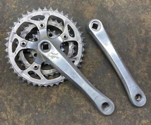 Sugino Impel Triple Crankset 170 22/32/42 MTB Silver Used Worn Chainrings Silver