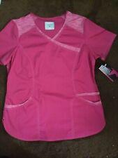 scrubstar women's mock wrap scrub top size medium pink