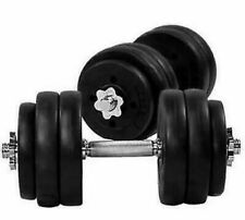 TNP 20KGx2 = 40KG DUMBELL SET VINYL GYM WEIGHTS FITNESS AT HOME GYM