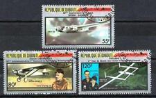 Avions Djibouti (21) série complète de 3 timbres oblitérés