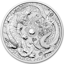 2018 Australian Dragon And Tiger 1 oz .9999 Silver Capsuled Limited BU Coin