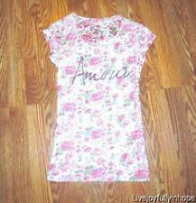 Pac Sun NOLLIE ~ New! NWOT Small ~ Shabby Pink Roses AMOUR Fitted Tee Shirt Chic