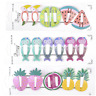 6PCS/Set Girls baby Hair Clips Snaps Hairpin Girls Baby Kids Hair Bow Accessory