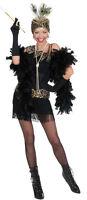 FLAPPER fille Charleston Costume Noir Neuf - femmes carnaval déguisement
