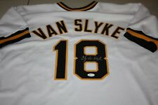 PITTSBURGH PIRATES ANDY VAN SLYKE #18 SIGNED AUTO CUSTOM WHITE JERSEY JSA CERT