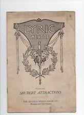 1917 LYRIC THEATRE PLAYBILL PROGRAM HEUCKS OPERA HOUSE