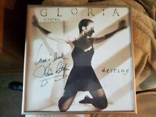 Gloria Estefan signed display card