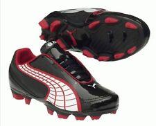 ORIGINAL chaussures Football PUMA junior v5.20 i FG noir rouge 36 FR 3.5 UK neuf
