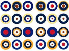 24 cake topper Raf air force roundels planes bun fairy cupcake toppers party