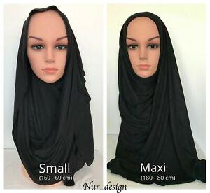 Premium Cotton Jersey Plain Muslim Small/Maxi Headwear Scarf Hijab U.S. seller