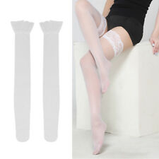 Lace Topped Thigh High Hot Sexy Ultrathin Sheer Fishnet Stockings-Hold USA Ship