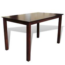 vidaXL Wooden Dining Table 110cm Kitchen Furniture Rectangular Brown Modern