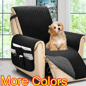 Reversible Recliner Chair Cover Sofa Couch Loveseat Protector Slipcover Large