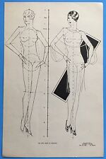 Vintage 1928 HOW TO DRAW THE FIGURE Walter Foster FLAPPER NUDE Instruction Page