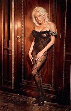 Bodystocking dentelle référence Alvina de couleur Noire de Violet Lingerie