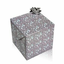Minecraft Inspired Diamond Gift Wrapping Paper For Craft And Gifts (3 x Sheets)