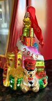 RARE NIB  Waterford Holiday Heirlooms Santa's Bag Ornament 2019 Dated
