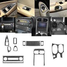 12Pcs Carbon Fiber Interior Full Set Cover Trim For Chevrolet Corvette C6 05-07