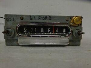 1960-1963 Ford Falcon AM Radio Push Button Motorola 04MD FoMoCo Galaxie Fairlane