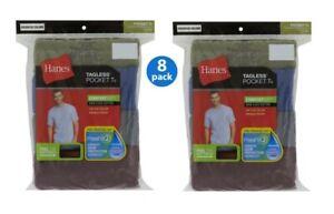 Hanes Men's FreshIQ® ComfortSoft® Dyed Assorted Colors Pocket T-Shirt  8-Pack