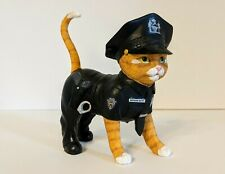 """Bradford Exchange """"Paw and Order"""" Officer Kitty Cat Figurine"""