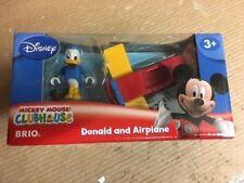 NEW RARE 32233 Disney Brio Wooden Train Donald Duck & Airplane! Thomas! NEW!