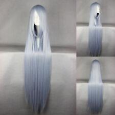 Graue glatte Echthaar-Perücken & Haarteile für Erwachsene mit Kunst-Motiv