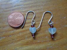 Handgefertigte Designer Ohrhänger aus 925er Silber und Jade