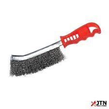 Silverline 369742 Steel Wire Brush 240mm - Welding Seam Prep & Heavy Cleaning