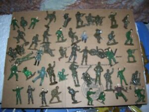 50 WWII ARMY TOY SOLDIERS REVELL MONOGRAM AIRFIX  VINTAGE 1960'S MODEL FIGURES