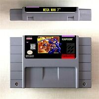 MEGA MAN 7 Game Card Console US Version For Nintendo SNES 16 Bit Eng