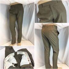 Raymond Shop Bespoke Pants 33x32 Tan All Wool Flat Front Worn Once YGI C8-9
