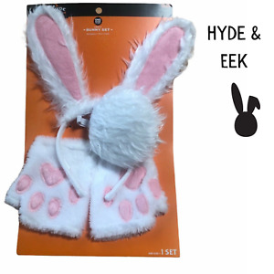 Hyde & EEK Target Adult Bunny Halloween Costume Accessory Set Head Tail Cuffs
