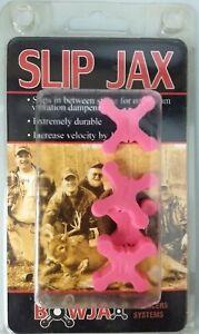 4 BowJax Archery Slip Jax 19 Grain Bow String Silencers 1040 Pink
