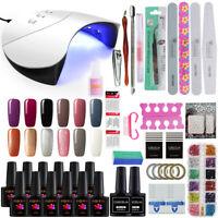36W UV/LED Lamp Any 12 Pcs Nail Polish Set-Kit Top Base Coat  Soak Off Tools Kit