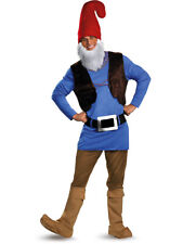 Adult Blue and Red Garden Statue Papa Gnome Deluxe Costume Men's Xl 42-46