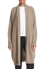 NEW Vince Open Front Cashmere Knit Coat in Toast - Size S