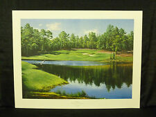 Adriano Manocchia Signed Pinehurst 9th Hole Seventh Course Golf L/E Lithograph