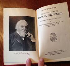 "Vintage Poetry""Selected Poems of Robert Browning"" by G.H.Clarke- 1927"