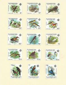 "SEYCHELLES 1983 SUPERB LIGHTLY MOUNTED MINT "" BIRDS"" SET TO 15R SG 53/ SG 67"