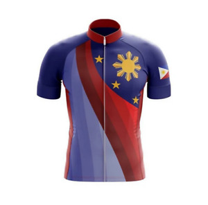 Cycling Short Sleeve Jersey Philippines Flag Novelty Cycling Jersey