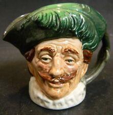 """Vintage Royal Doulton The Cavalier Miniature Toby Jug 3.5"""" x 3.75"""" Excellent"""