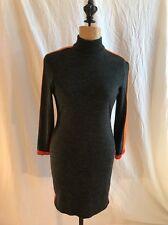 Vtg 80s KATHRYN DIANOS Designer Gray Wool Cocktail DRESS sz 4 Anthropologie Look