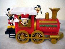 ANIMATED DISNEY MICKEY TRAIN CHRISTMAS DISPLAY - GOOFY - MINNIE WAVES MUSICAL