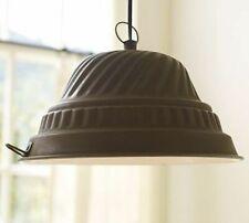 2 Pottery Barn Vintage Cake Pan Farmhouse Style Pendant Lights