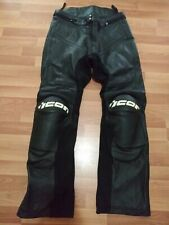 NOS Icon Overlord Prime motorcycle Pants Leather Black Size 36 street stunt trac