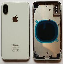iPhone X Akkudeckel mit Mittelrahmen Backcover  Rückseite aus Glas  Silber